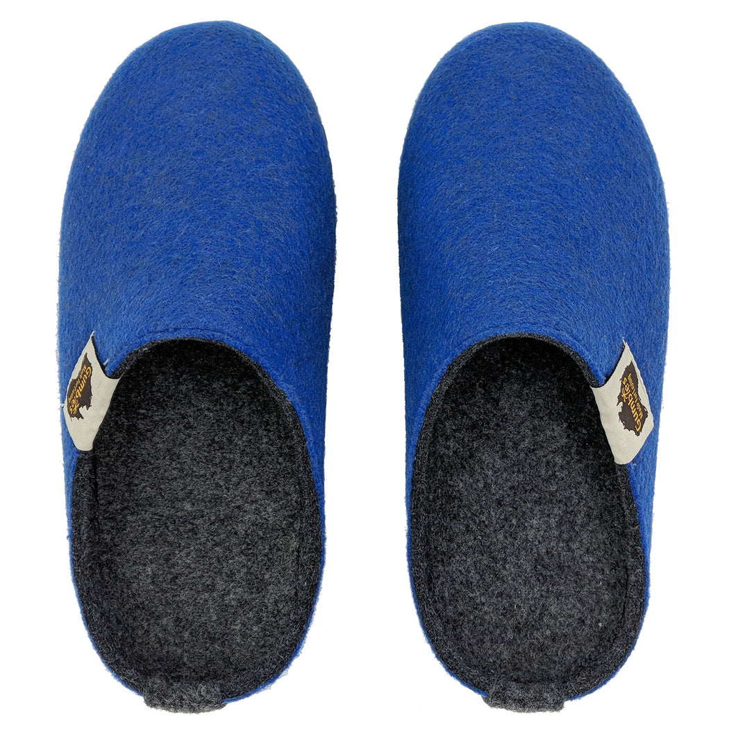 Outback Slipper Blue & Charcoal