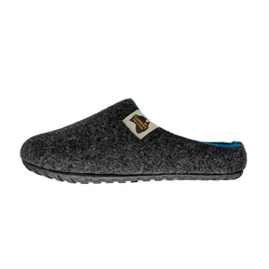 Outback Slipper Charcoal & Turquoise