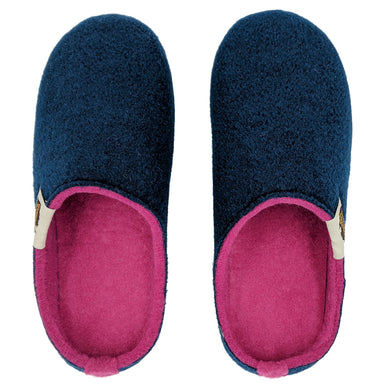 Outback Slipper French Navy & Pink