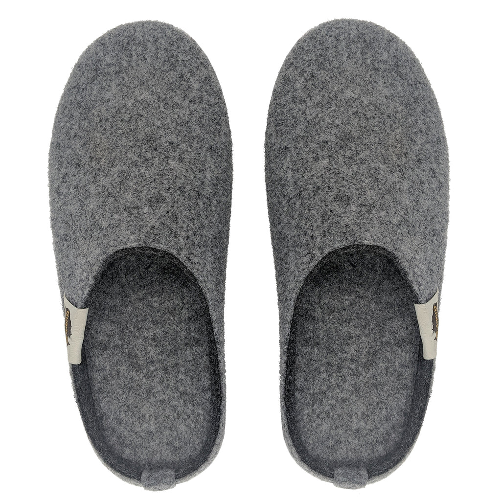 Outback Slipper Grey & Charcoal