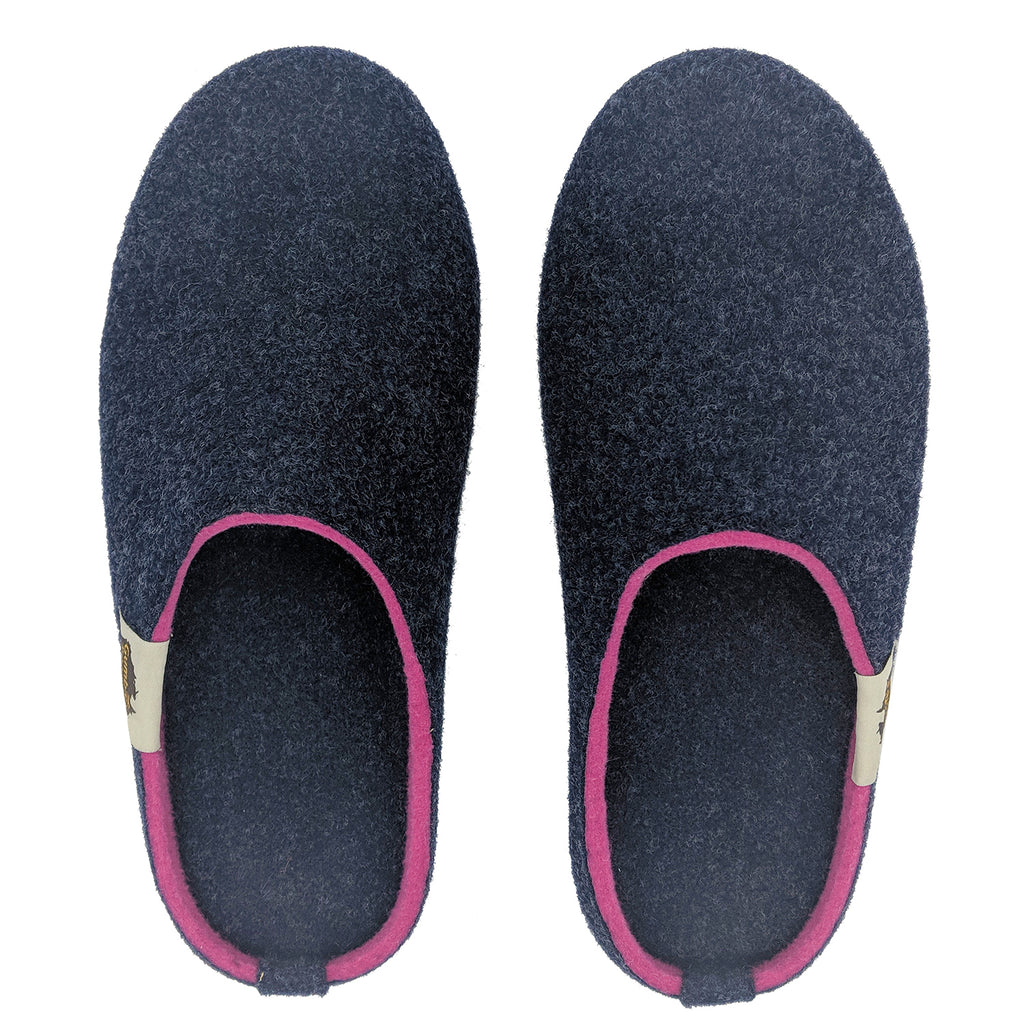Outback Slipper Navy & Pink