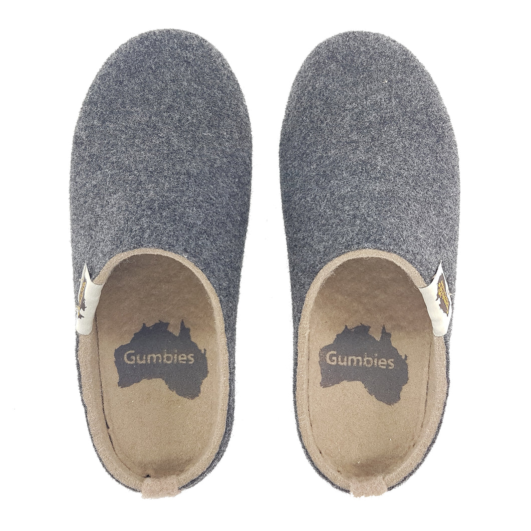 Outback Slipper Charcoal & Sand