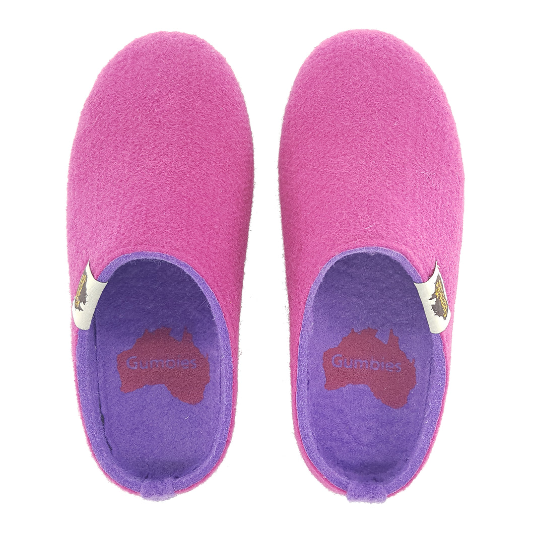Outback Slipper Fuchsia & Purple