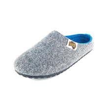 Outback Slipper Grey & Turquoise