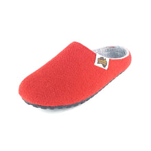 Outback Slipper Red & Grey