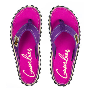 Islander Flip-Flops Purple Signed