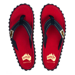 Islander Flip-Flops Red with Blue Strap