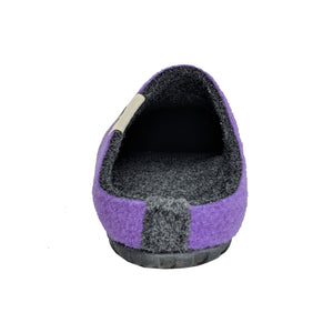 Outback Slipper Purple & Charcoal