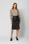 Evita Leather Skirt