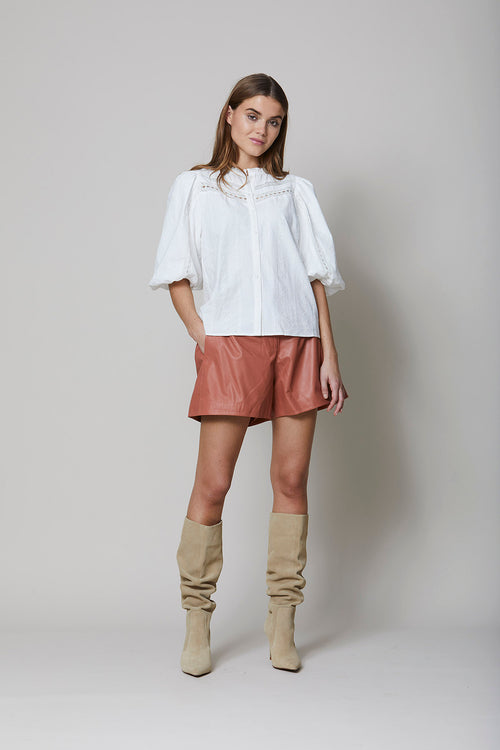 Odessa Leather Shorts