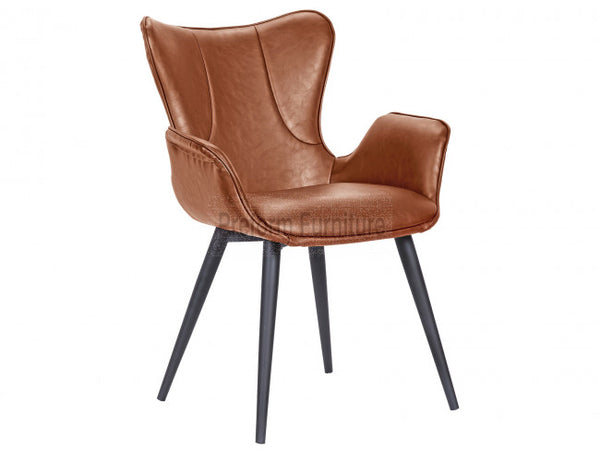 Image of   Mist chair, Sort Cognac