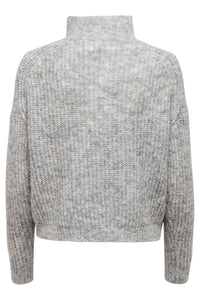 Emily L/S Zip Pullover - Lysegrå
