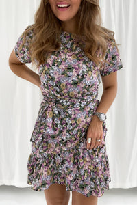 Agnes Dress - Lilla Mix Print