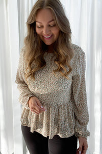 Nadja Top - Cream Print