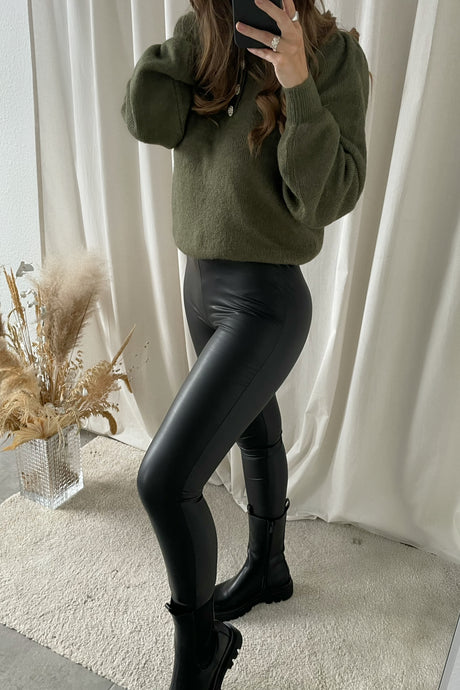 Cool Coated Leggings (Forudbestilling lev uge 9) - Sort
