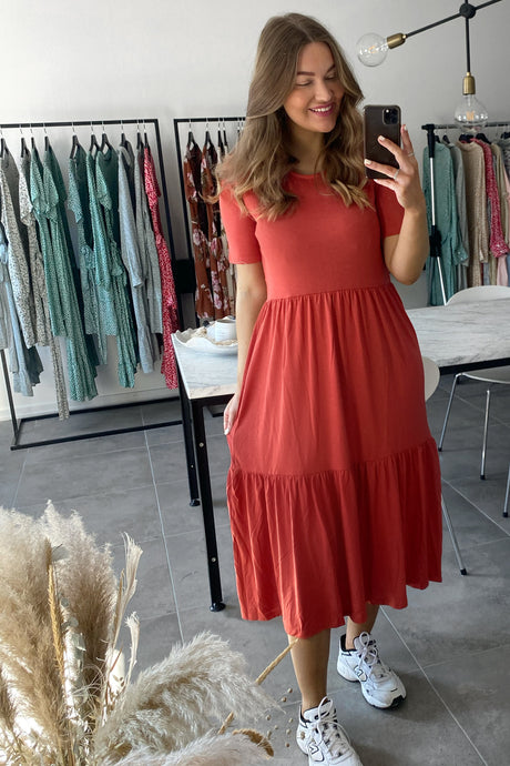 Dalila Dress - Rust Rød