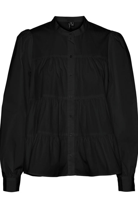 Mie Layer Skjorte L/S - Sort