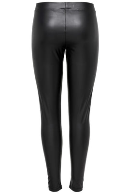 Ruby PU Leggings - Sort