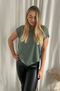 Ava Plain SS Top - Green