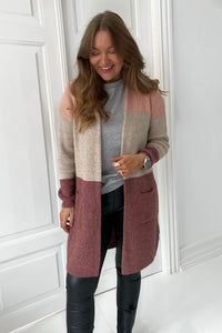 Jade Strik Cardigan - Bordeaux