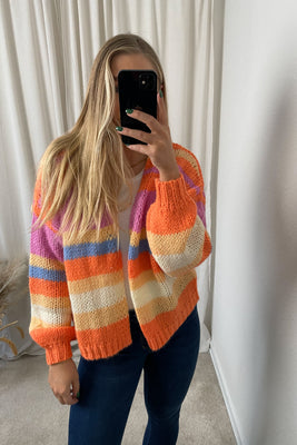 Multi LS Knit Cardigan - Multi