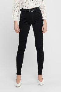 Shape High Waist Jeans - Sort