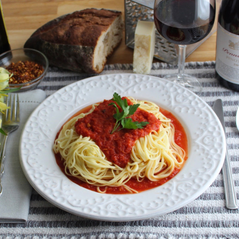Spaghettini with Tomato Sauce