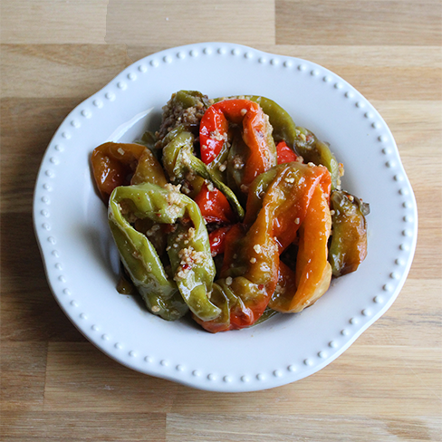 Roasted Long Hot Italian Peppers