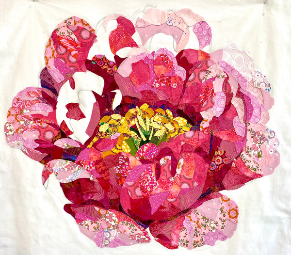 Collage Quilter Peony