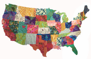 USA Collage Quilt Pattern