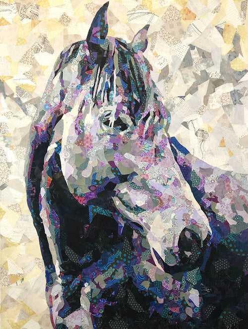The Horse Collage Quilt Pattern