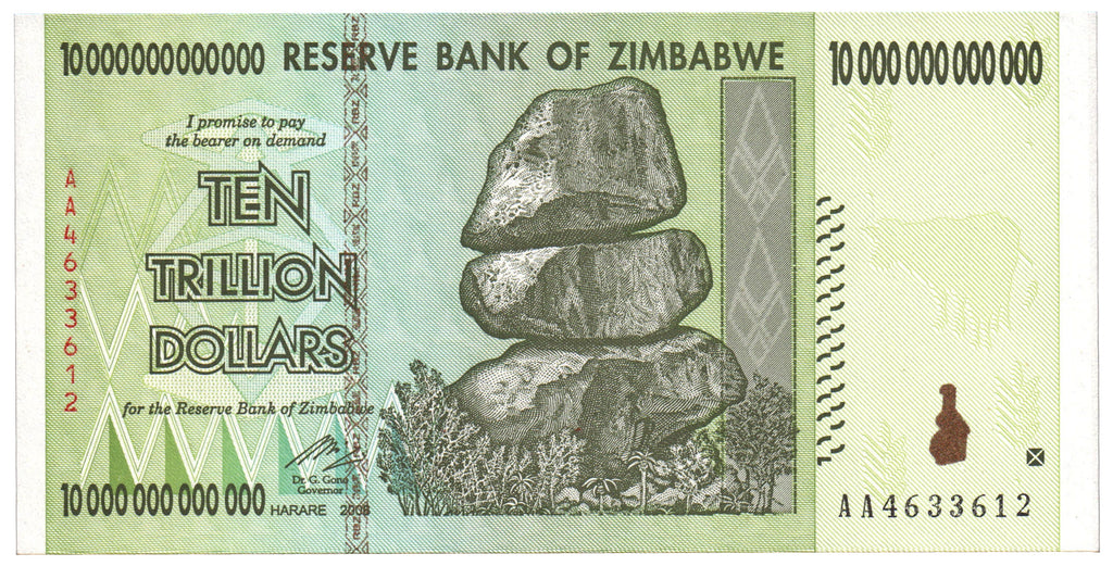 10 Trillion Zimbabwe Notes