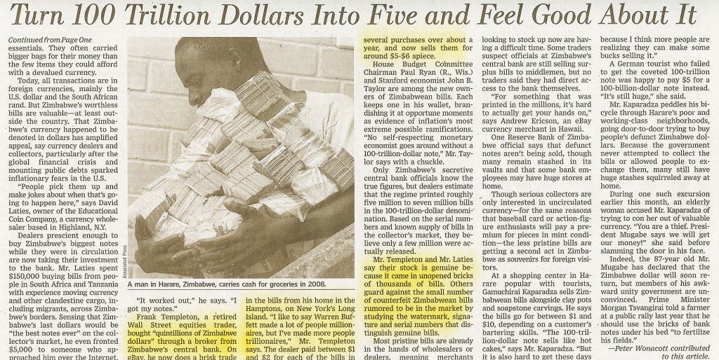 Frank Templeton Featured In The Wall Street Journal