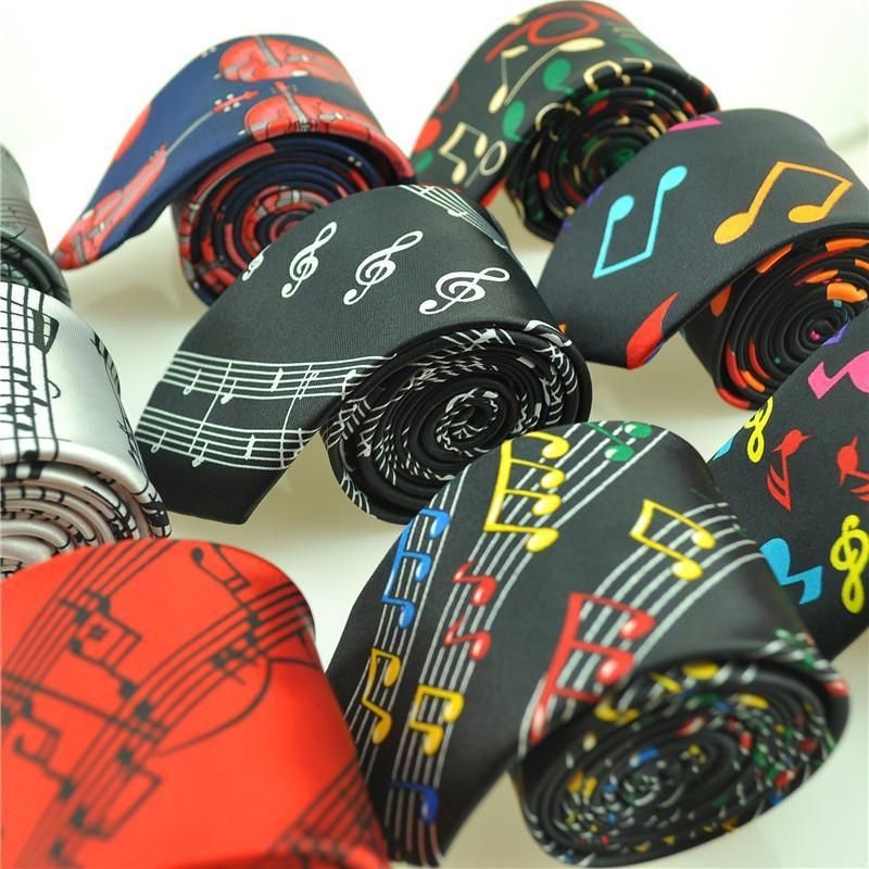 2018 New Arrival Fashion 29 Designs Music Note Ties