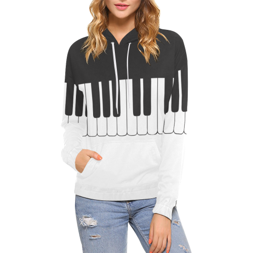Motif Piano Sweatshirt Woman, Special for Stylish Pianists