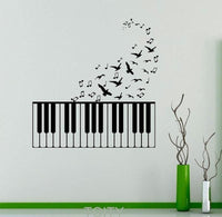 Adhesive Wall Decoration - The Music Flies Pegatina Muro