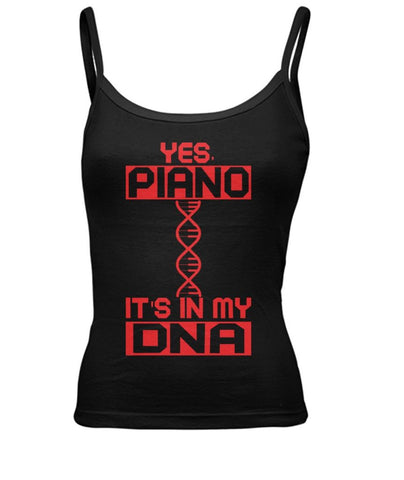 Piano Dna Women's Spaghetti Tank Tops