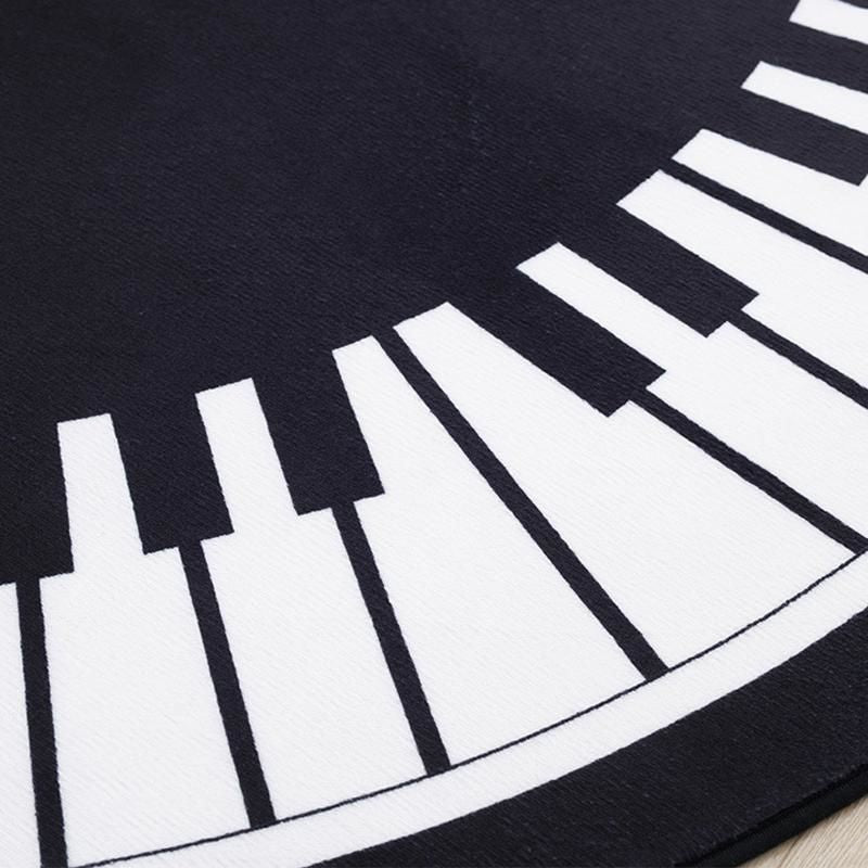 Piano Round Floor Mat Carpet Tapiz