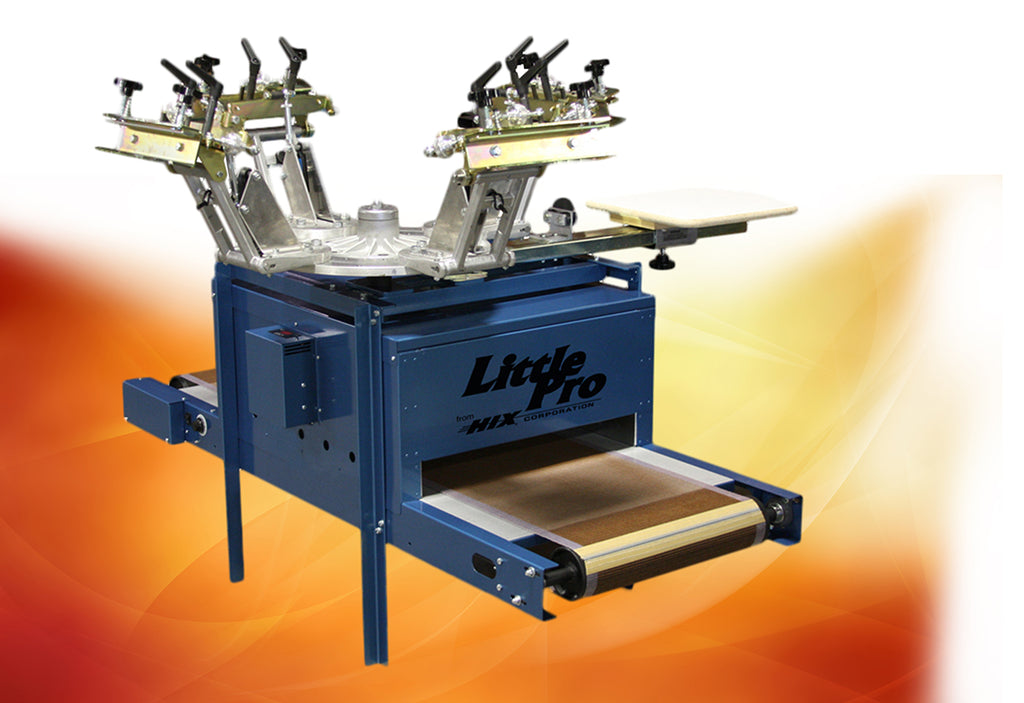 HIX Little Pro Rotary Screen Printer/Conveyor Dryer Combo
