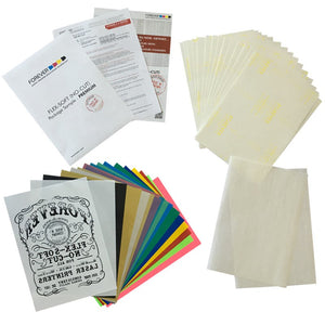 FOREVER Flex-Soft (No-Cut) Laser Heat Transfer Paper Premium Starter Pack