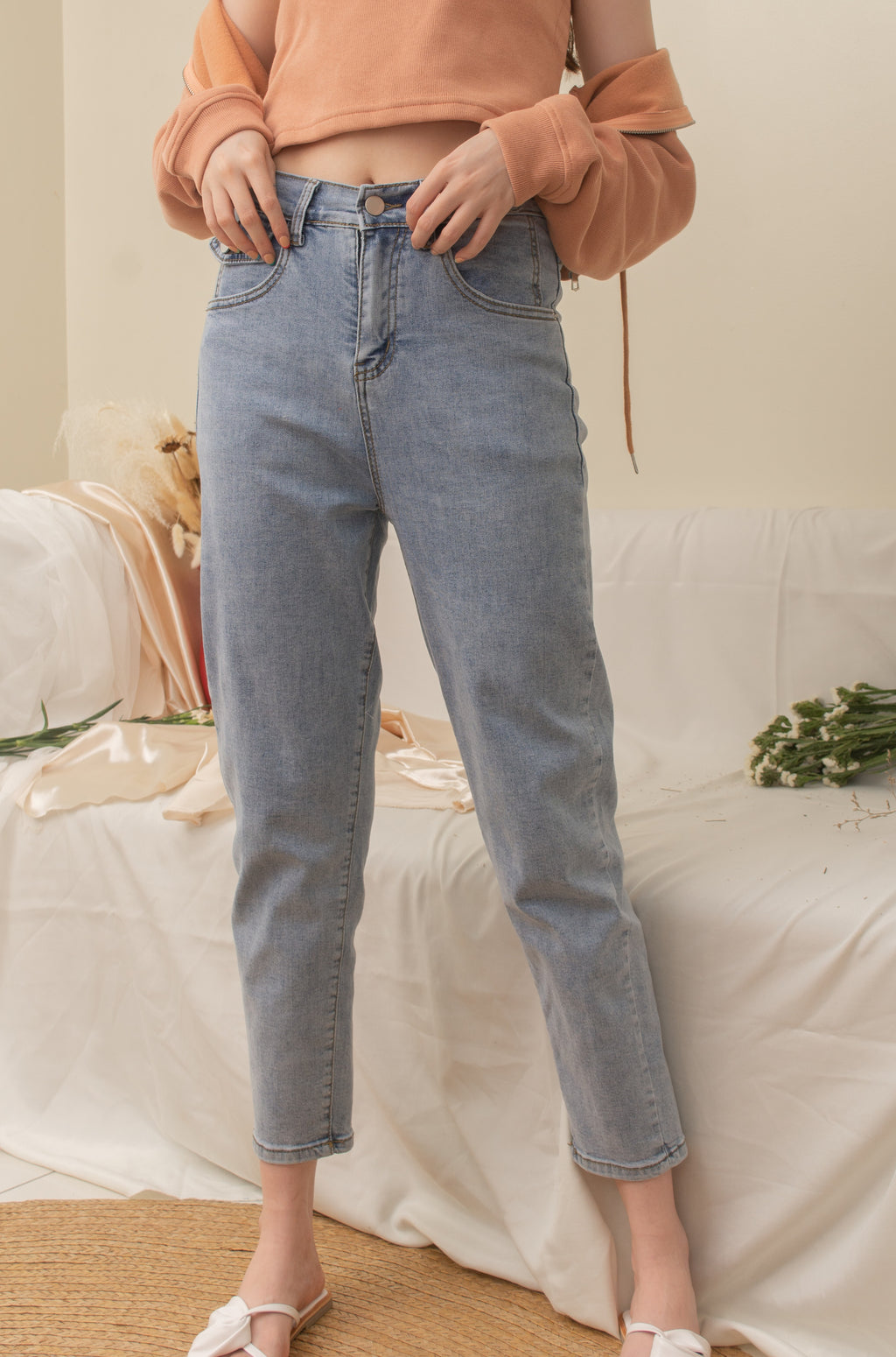 COOKIE Denim Jeans - Medium Wash