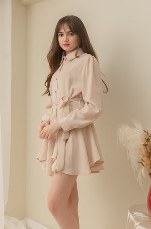 KATERINA Buttoned Long Sleeve Dress