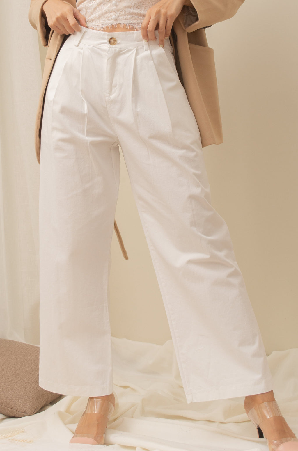 PORTER Wide Leg Trouser Pants