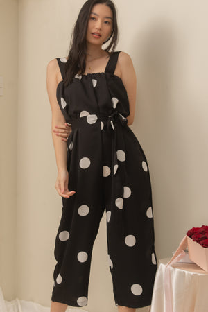 CAMILLA Dotted Jumpsuit (BLACK)