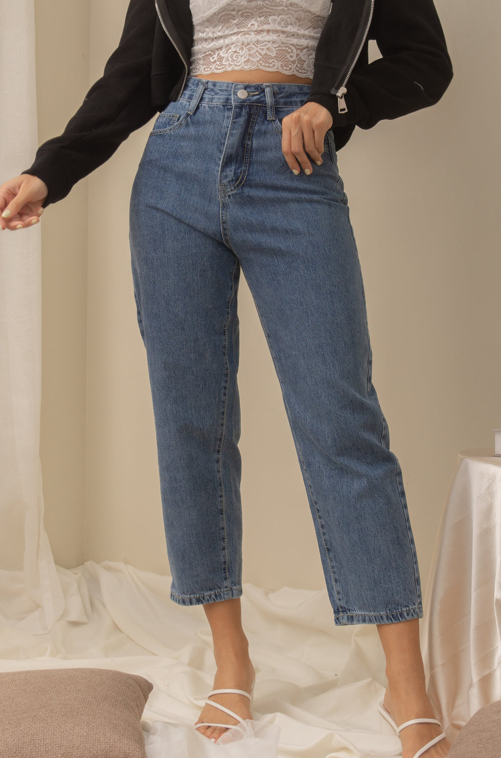 RICCI Mom Denim Jeans - Dark Wash