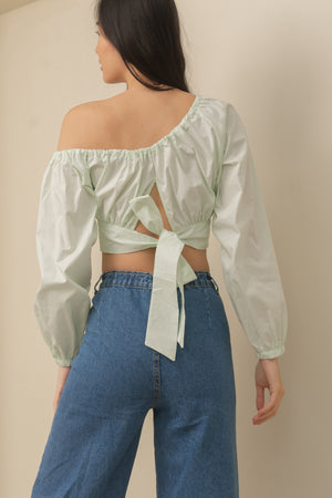 ODETTE One Sided Blouse (MINT)
