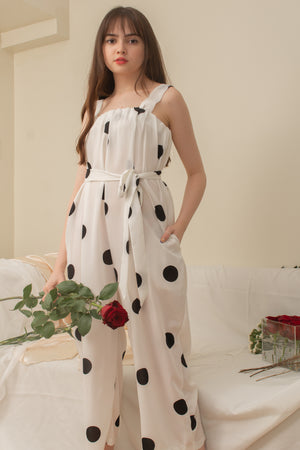 CAMILLA Dotted Jumpsuit (WHITE)