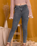 PIPPA Denim Pants - Semi Dark Wash