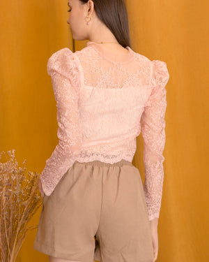 BELEN Lace Bow Top
