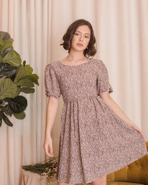 REGINA Puff Sleeve Babydoll Dress